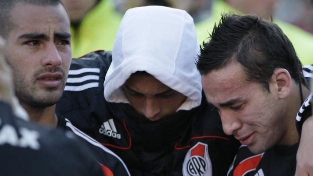 La tristeza, rabia y frustración se apoderó de los Millonarios. (AP)