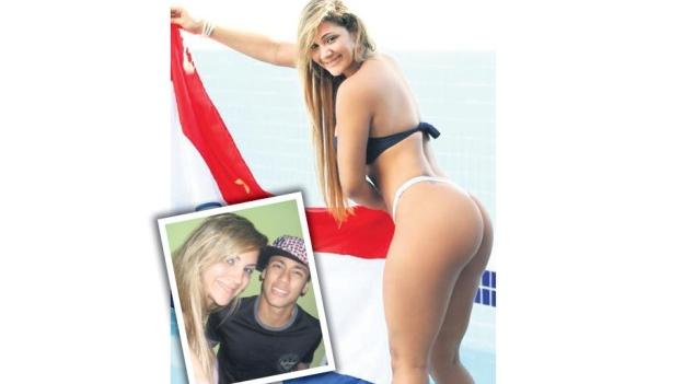 La brasileña ya colgó sus fotos con Neymar.