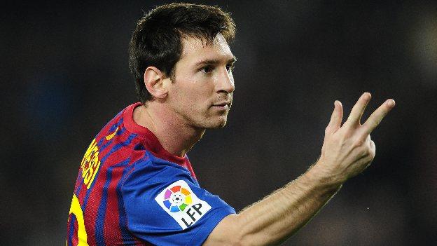 Messi lleva 13 goles en la liga española. (AP)