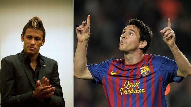 Neymar se podría enfrentar a Messi en la final del Mundial de Clubes. (AFP)