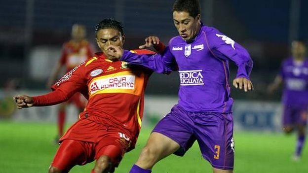 Ibañez jugó ante Sport Huancayo la Copa Sudamericana. (Internet)