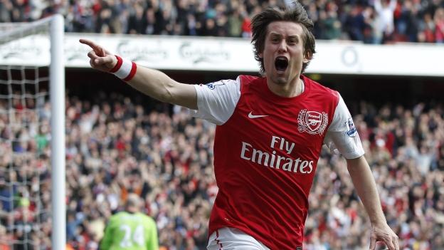 Rosicky hizo el tanto con el que Arsenal dio vuelta al duelo. (AFP / YouTube)