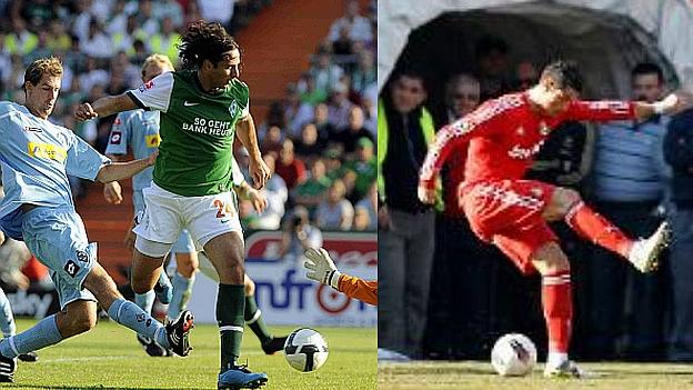 Pizarro anotó este espectacular gol de taco con la camiseta del Werder Bremen. (Web del Real Madrid/ Diario AS)