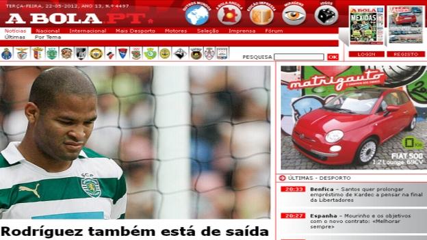 Alberto Rodríguez llegó a Sporting de Lisboa a inicios de temporada por el pedido de Paciencia. (A bola)