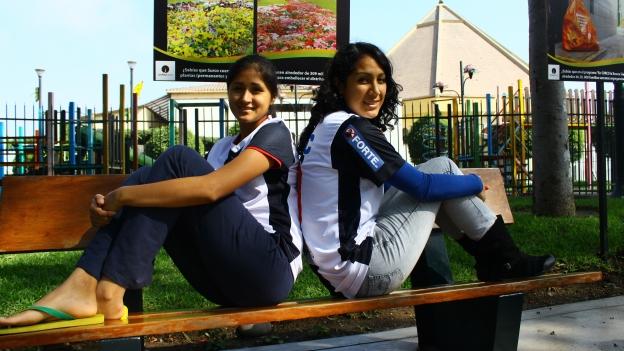 Alianza se caracteriza por tener a jugadoras muy bellas, y estas chicas con una clara muestra. (Javier Polanco)