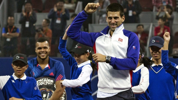 Novak Djokovic se divirtió de lo lindo en Taiwán. (AP / YouTube)