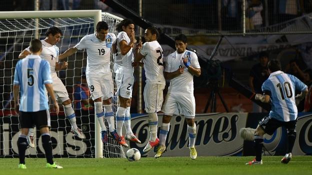 Lionel Messi anotó su primer doblete con Argentina en Eliminatorias. (AFP)