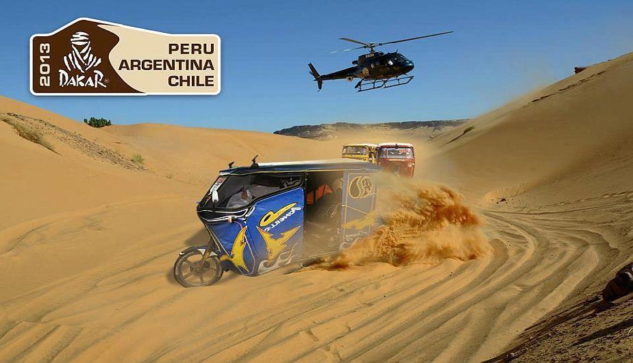 ¿Una mototaxi en el Dakar? Locuras del Facebook.