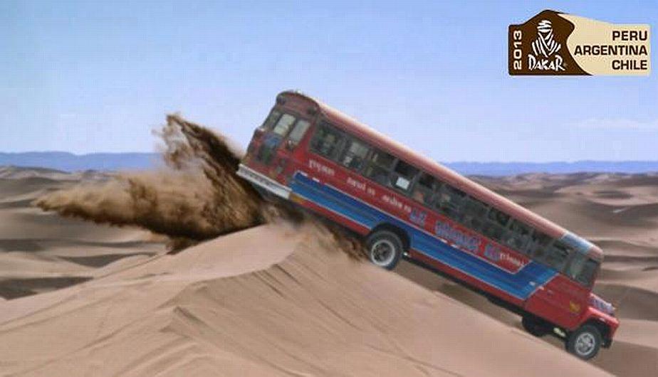 ¿Un bus en el Dakar? Locuras del Facebook.