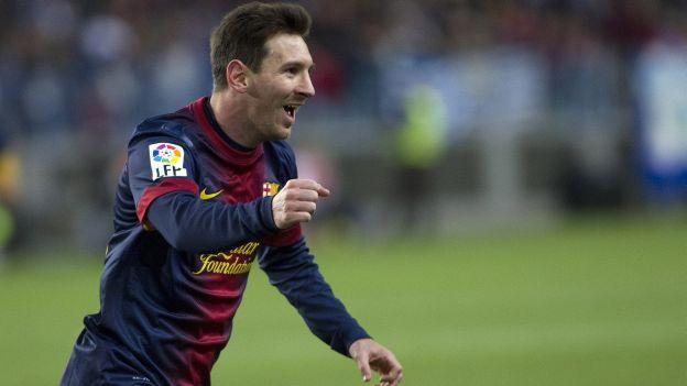 Lionel Messi tiene 28 goles en esta temporada de la Liga BBVA. (AP)