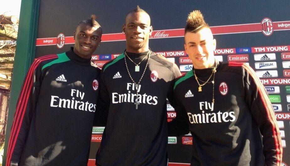 Este trío promete mucho en el Milan: Niang, Balotelli y  El Shaarawy. (Milan)
