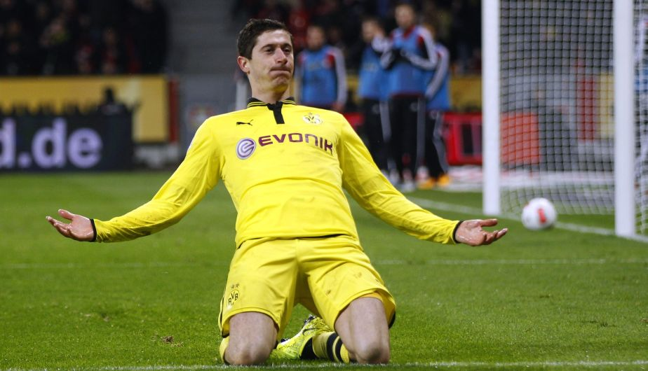 Robert Lewandowski, delantero del Borussia Dortmund, lleva marcados 7 goles en 8 partidos.