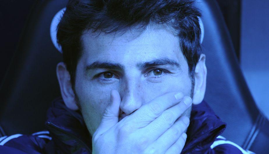 Iker Casillas volvió a ser convocado, pero no jugó. El titular fue López.
