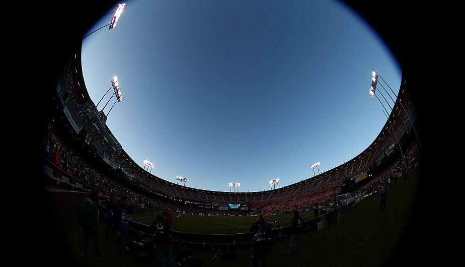 Impresionante la foto que capturó nuestro fotógrafo del estadio Candlestick Park. (Daniel Apuy)