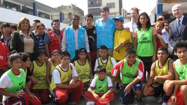 Ibáñez y Cubillas son embajadores de la UNICEF en Perú.