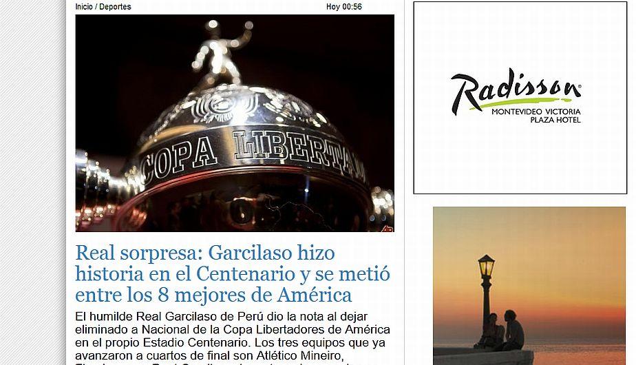 """""""El humilde Real Garcilaso de Perú dio la nota al dejar eliminado a Nacional de la Copa Libertadores"""". (unoticias.com.uy)"""