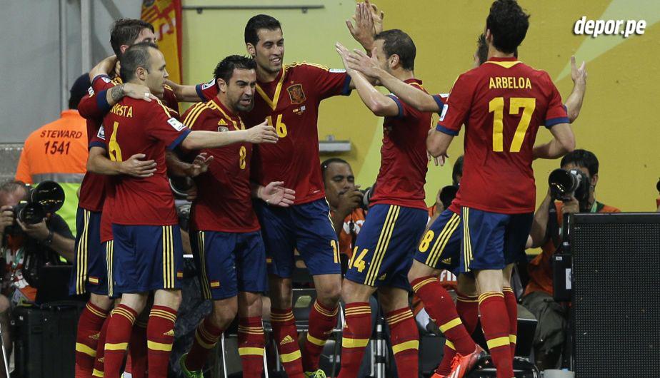 España es la firme candidata para ganar el Mundial de Brasil 2014. Viene de conseguir la Eurocopa 2012.