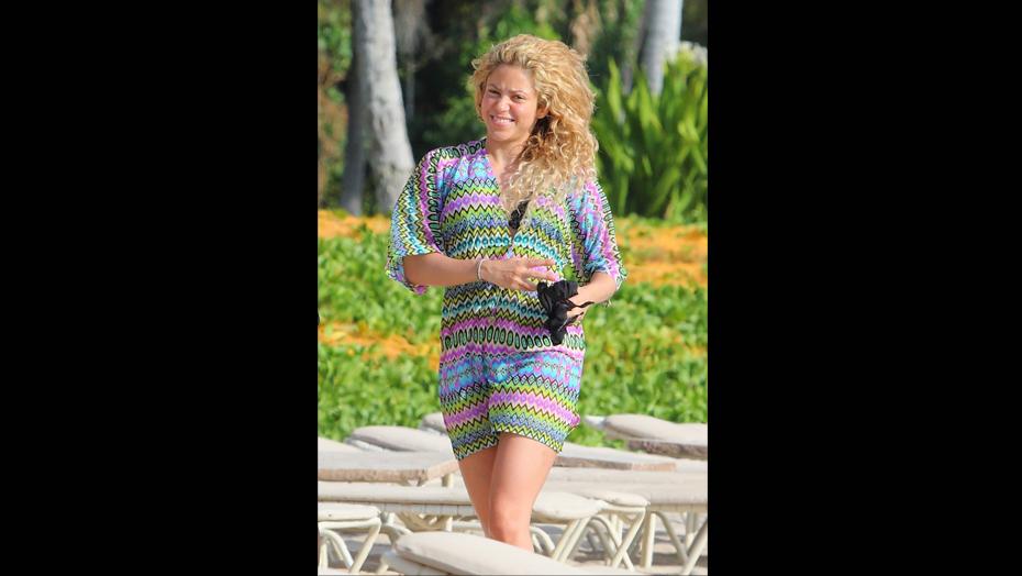 La cantante muy contenta en sus vacaciones en Hawai. (Fuente: Revista 'Semana')