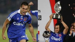 Eduardo Vargas recibi su trofeo como goleador del campeonato. (AP)