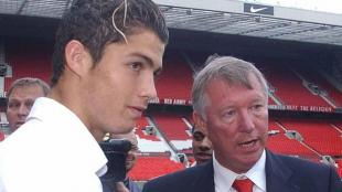Cristiano Ronaldo gan la Champions League con Alex Ferguson en el 2008. (Twitter Cristiano Ronaldo)