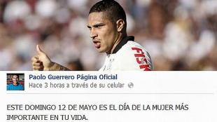Paolo Guerrero salud a todas las madres peruanos. (Facebook de Guerrero) 