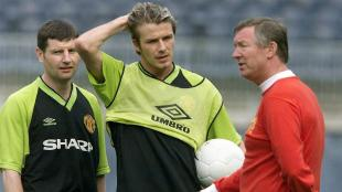Alex Ferguson hizo debutar a David Beckham con el Manchester United en la temporada 1995. (AFP)
