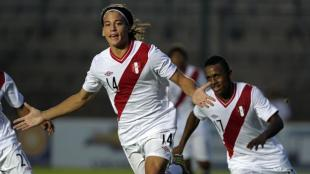 Cristian Benavente debut con la seleccin mayor ante Mxico. (AFP)