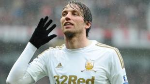 Michu fue transferido al Swansea por solo 2,5 millones de euros. (AFP)