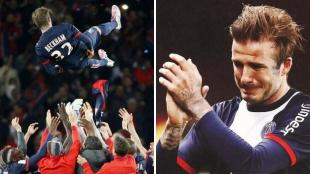David Beckham gan&oacute; una Champions League con el Machester United. (Agencias)
