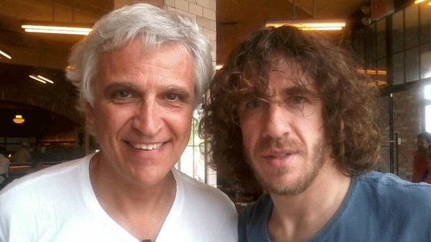 Carles Puyol, David Villa, Josep Capdevila