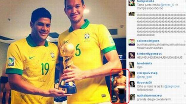 Foto de Hulk mostró a un jugador desnudo.